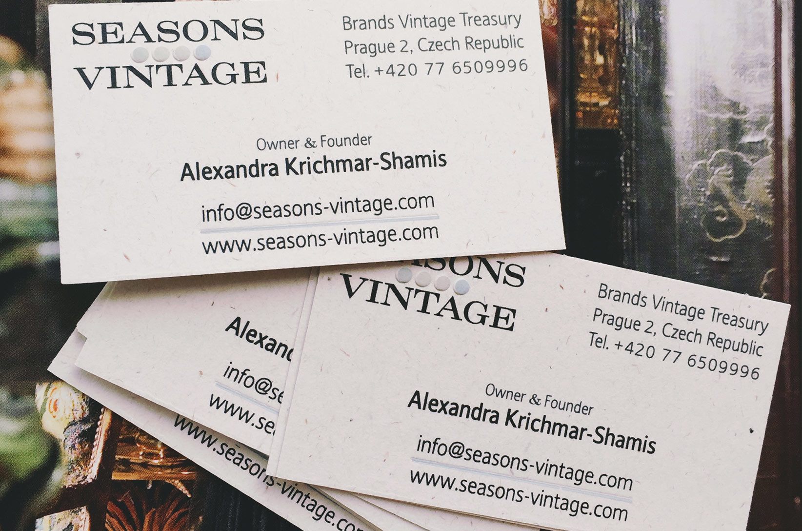 Business Cards with Vintage Logo